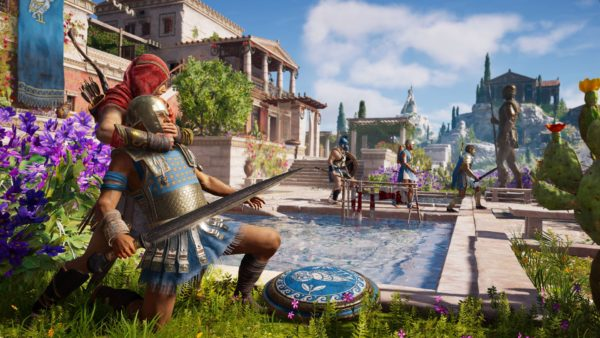 where elpenor is ,tablets, assassin's creed odyssey, xbox one x enhanced, beginner tips