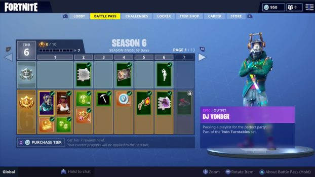 Fortnite Season 6 All Season 6 Battle Pass Skins