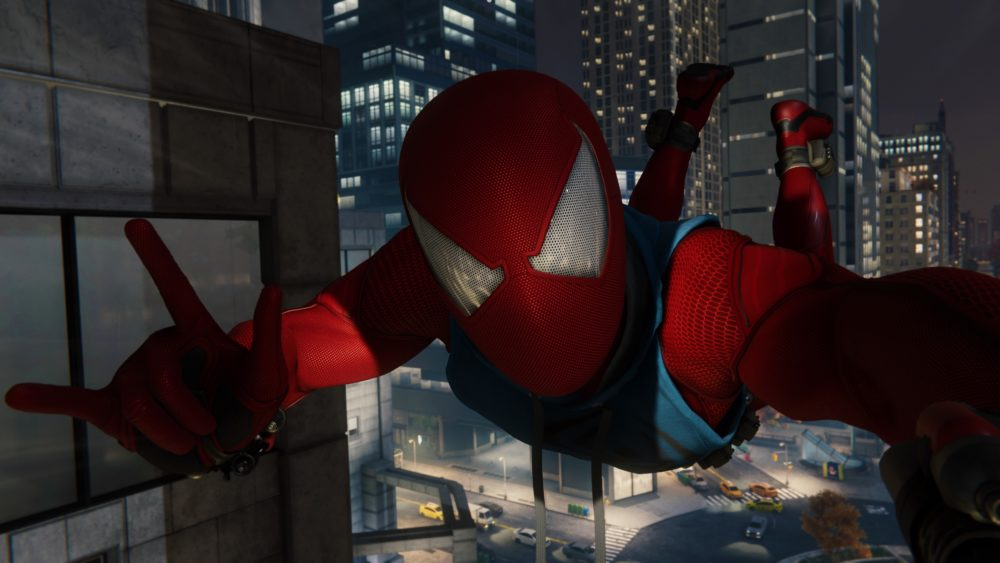 best video game photo modes, photo mode, spider-man, v
