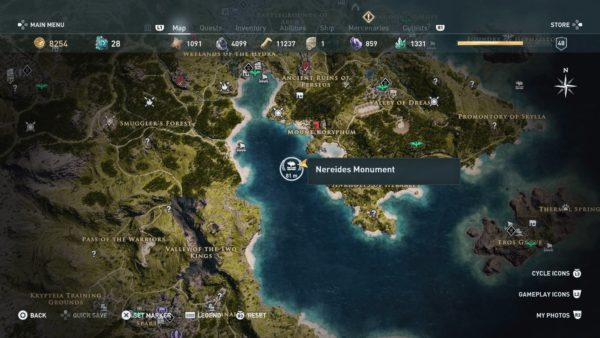 assassin's creed odyssey, all underwater locations, underwater locations