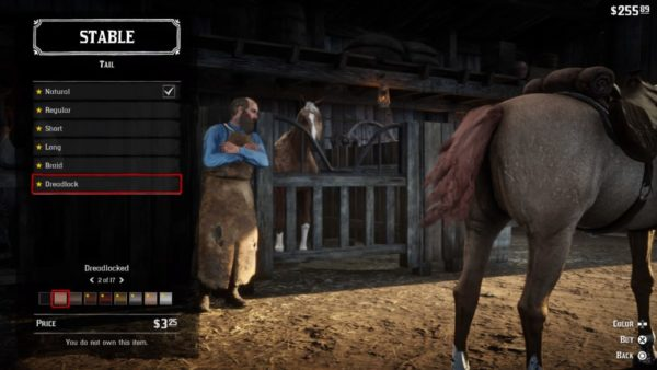 Red Dead Redemption 2, customize horse appearance
