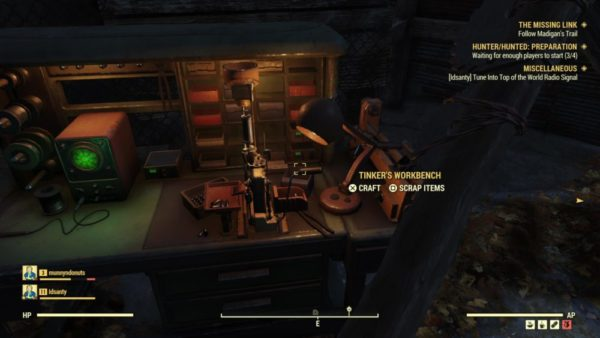fallout 76, how to scrap items