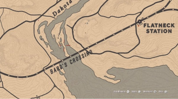 red dead online, bards treasure map, treasure, location, how to find