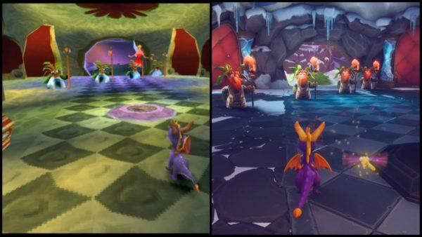 Spyro Original Vs Reignited Trilogy Graphics Comparison