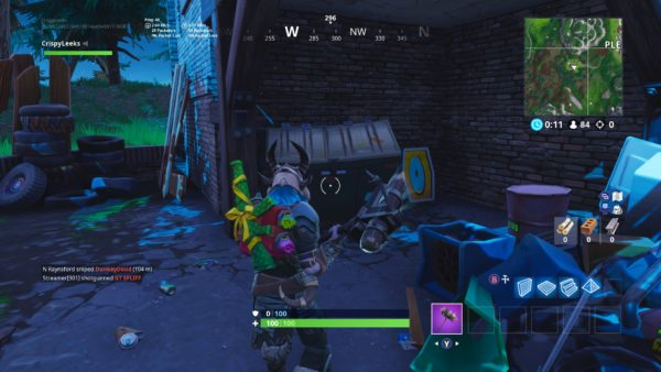 Fortnite, where the letter O is west of pleasant park