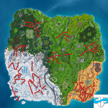 Fortnite, ziplines, where, find, locations, all