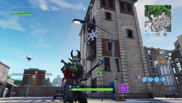 Fortnite, snowflake decorations, where to destroy snowflakes
