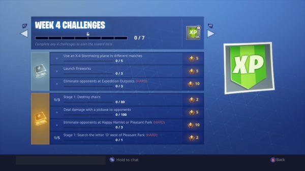 Fortnite, week 4 challenges, season 7