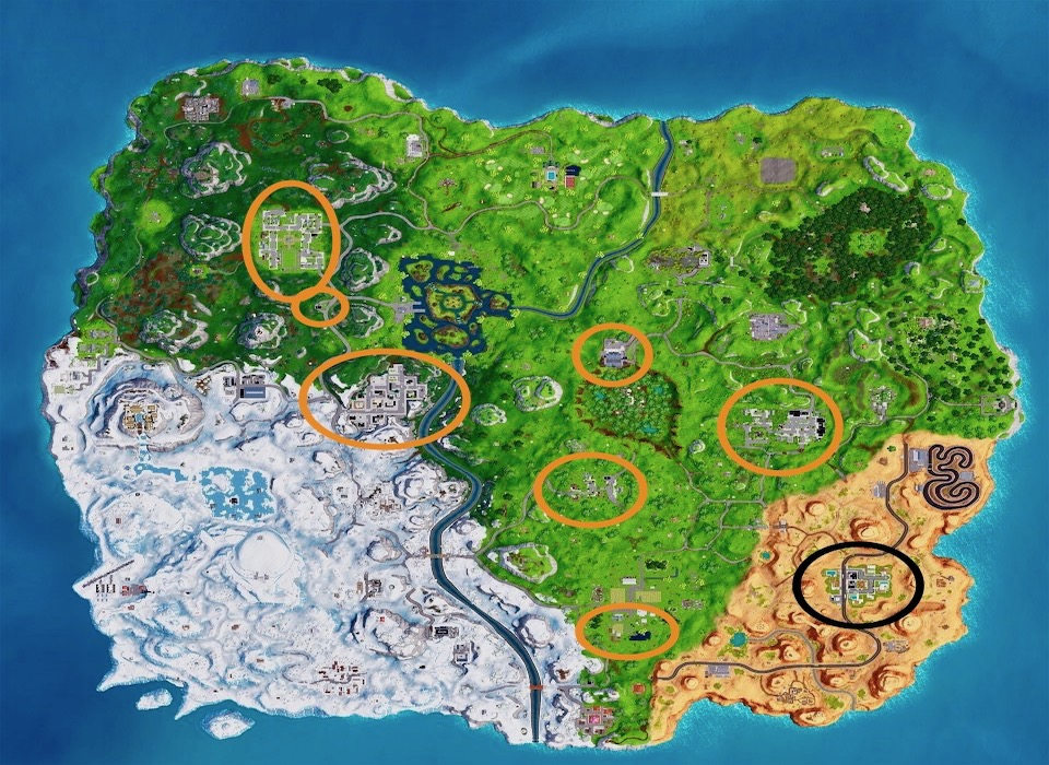 Fortnite Battle Royale Snowflake Decorations Locations Challenge