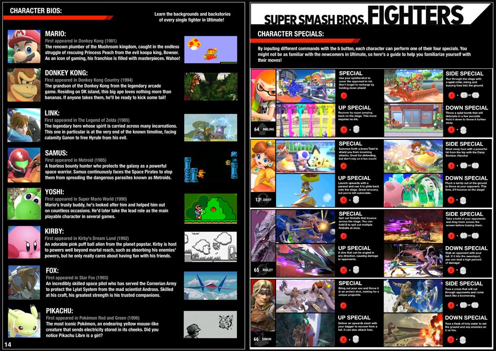Super Smash Bros., Super Smash Bros. Ultimate, Nintendo, Switch, Fan, Manual