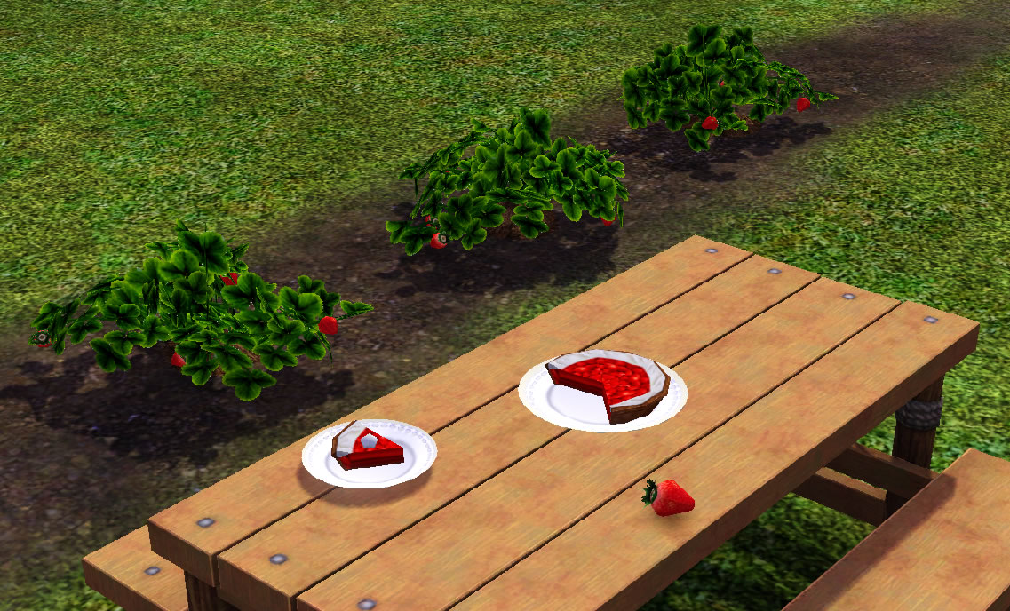Sims 4, strawberries