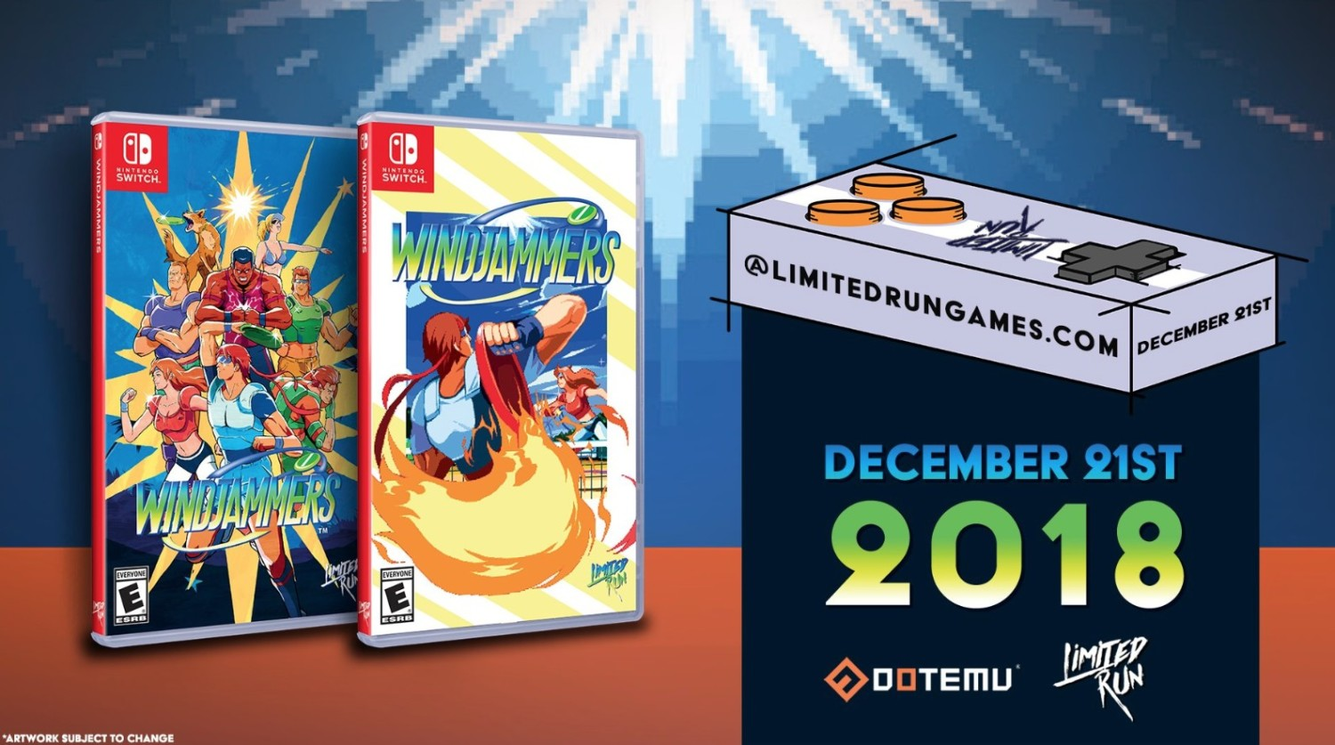 Windjammers, Celeste, Limited Run Games, Kinda funny, Physical