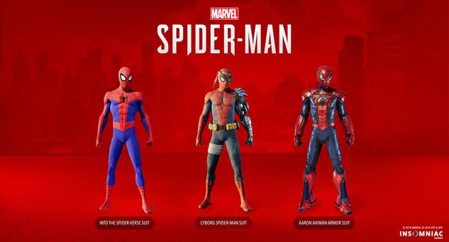 Spider-Man DLC Costumes