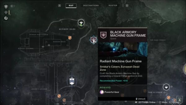 destiny 2, volundr forge location