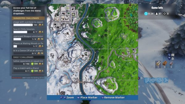 Fortnite Chilly Gnome Locations Where To Search Chilly Gnomes