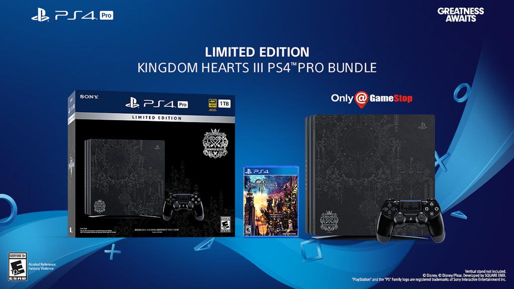 Kingdom Hearts 3 LE PS4 Pro, pre order, gamestop