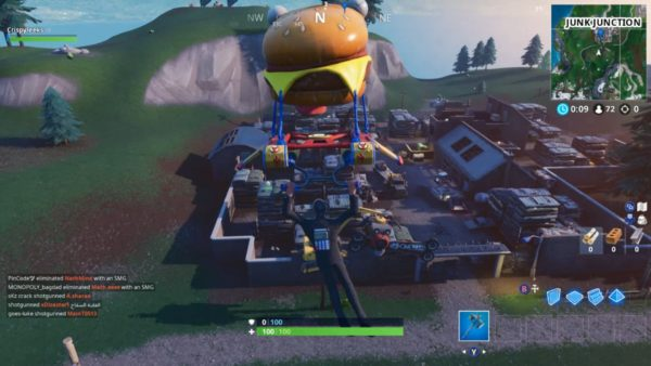 Fortnite Dance on Top of Giant Metal Dog Head Location
