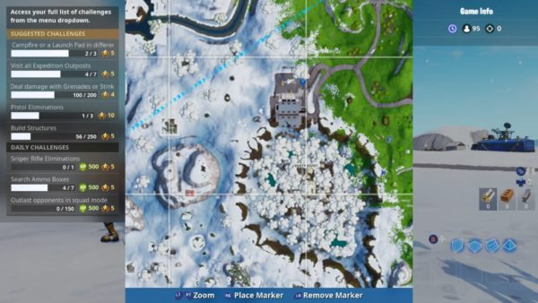 sundial location cup of coffee location metal dog head location - coffre map fortnite