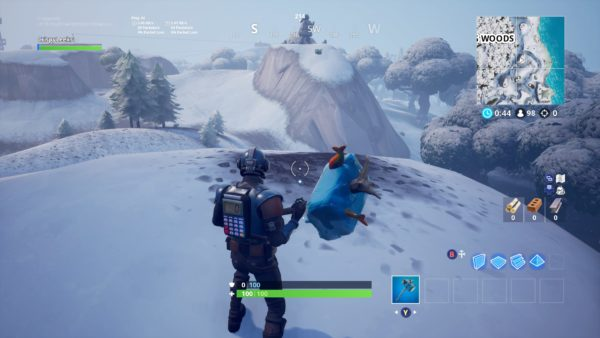 Where to Search Between a Mysterious Hatch Giant Rock Lady and Precarious Flatbed in Fortnite