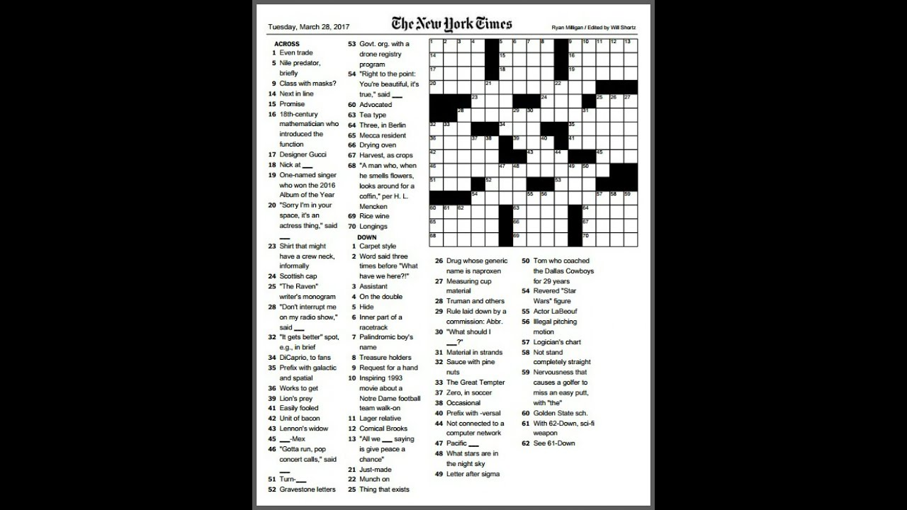 Elbows On The Table Crossword Answer
