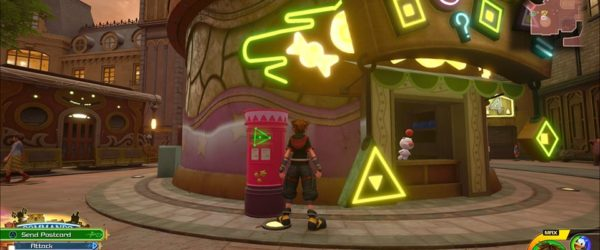 where to use prize postcards in kingdom hearts 3, what you get prize postcards, kingdom hearts iii, twilight town, moogle shop