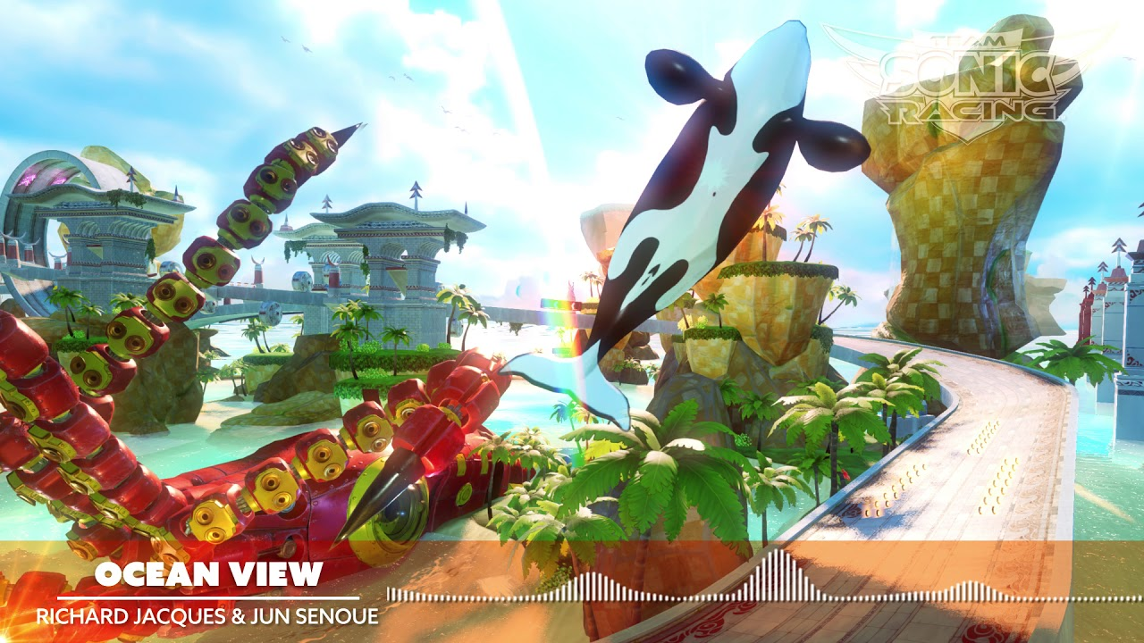 team sonic racing, ocean view