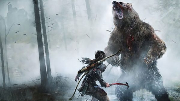 how to defeat the bear in rise of the tomb raider, bear boss battle, tomb raider,