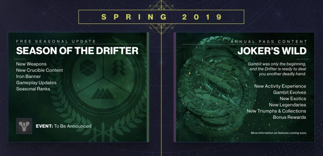 season of the drifter, joker's wild, release date