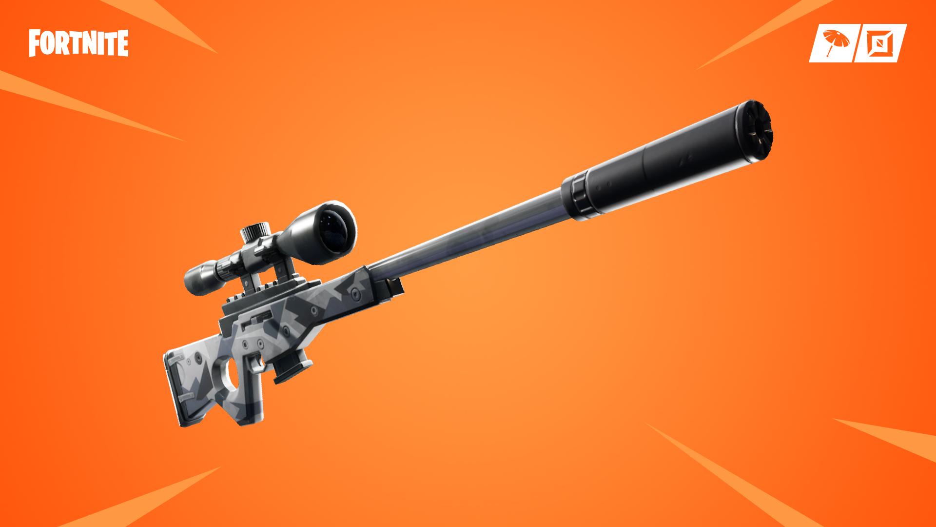 Fortnite, suppressed sniper rifle, v7.10 update