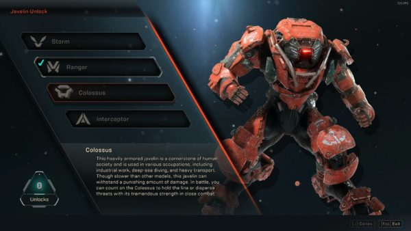 which javelin should you choose, anthem