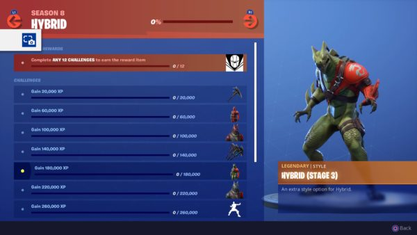according to the season 6 chart 180 000 xp should allow you to reach level 45 in fortnite season 8 and get you close to hitting 46 right after that - how to do all fortnite challenges season 8
