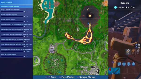 Fortnite Season 8 Volcano Vents Locations Fortnite