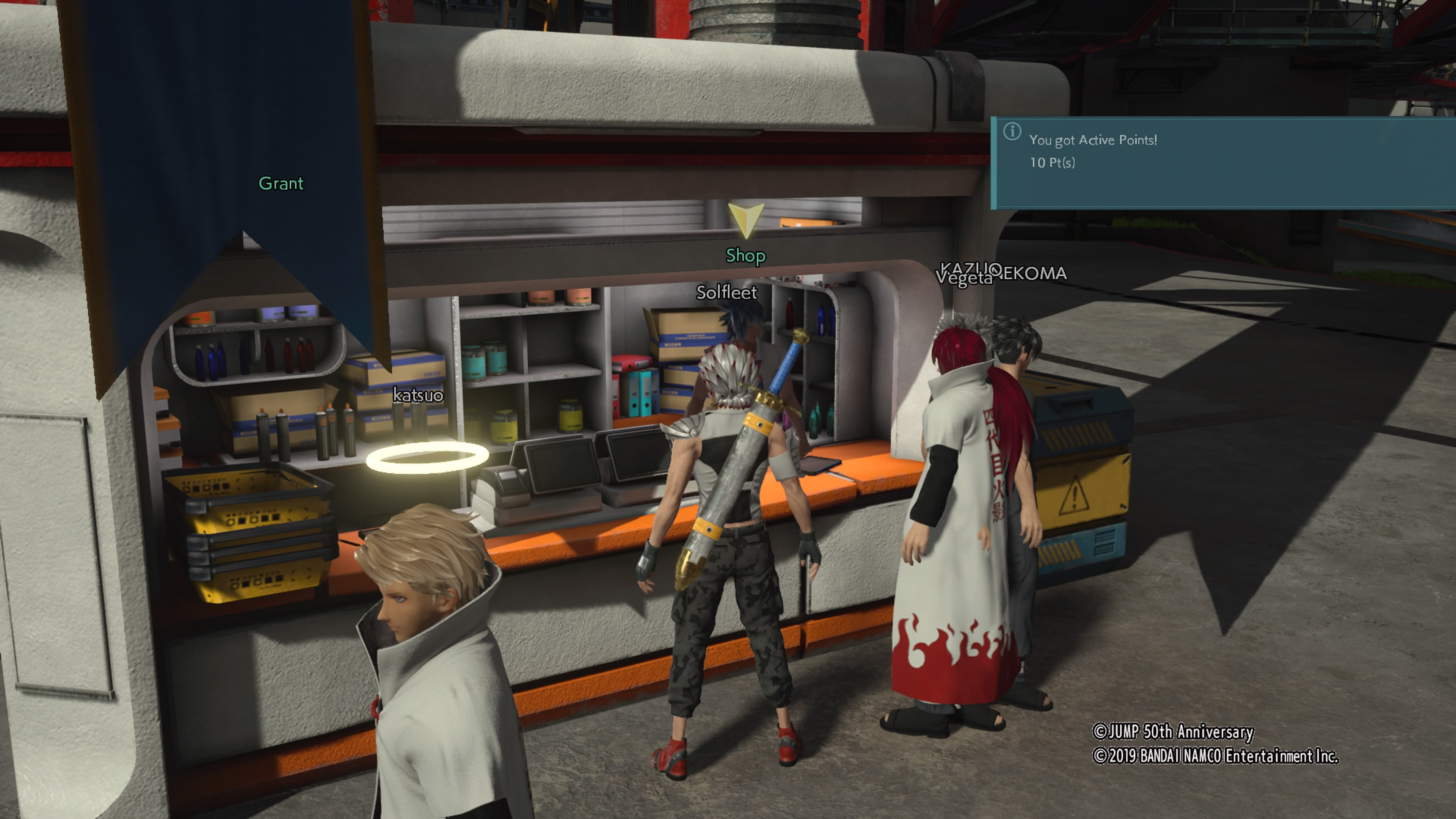 how to get active points in jump force, what active points do in jump force, how to earn active points, teams, operations