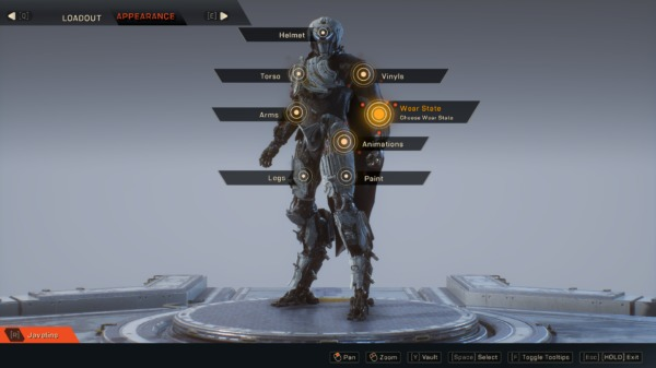 how to get javelin clean wear state in Anthem
