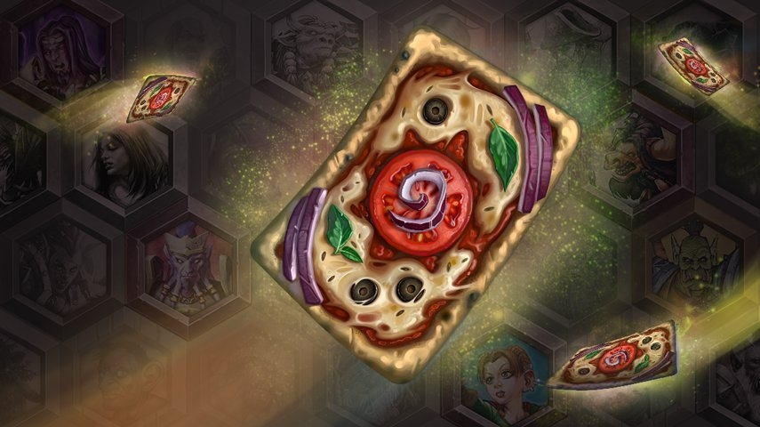 Hearthstone's Pizza Stone card back