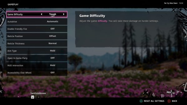 how to change difficulty in Far Cry New Dawn