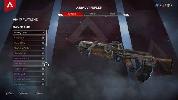 how to get new weapon skins in Apex Legends