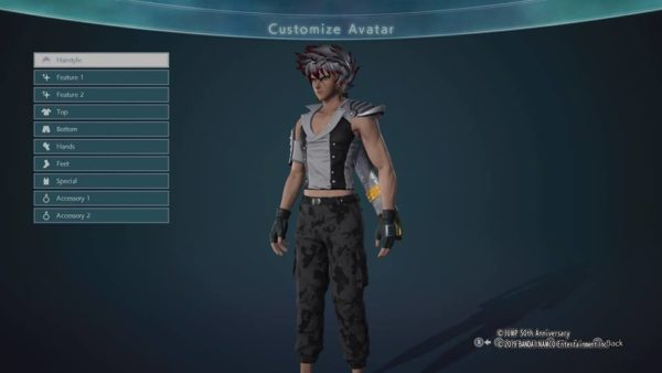 how to change clothes and outfits in jump force, jump force avatar, jump force character customization