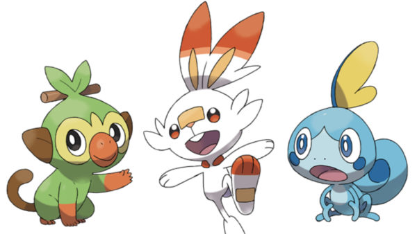 pokemon sword & shield, starters