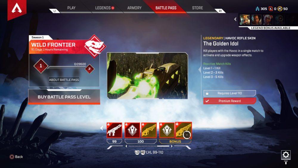 Apex Legends, tier 100 skin