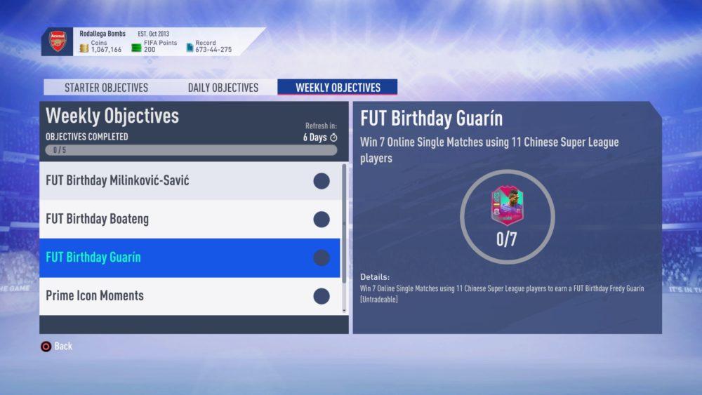 fifa 19, fut birthday, weekly objectives