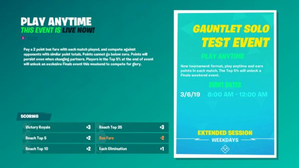 fortnite bus fare explained what bus fare is in gauntlet why it s important fortnite news - leaderboard for fortnite gauntlet