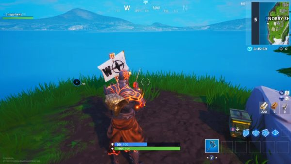 Fortnite North South East West furthest point locations