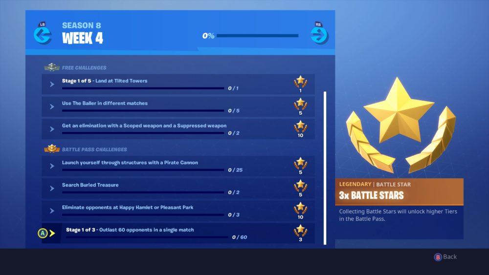 Fortnite week 4 challenges