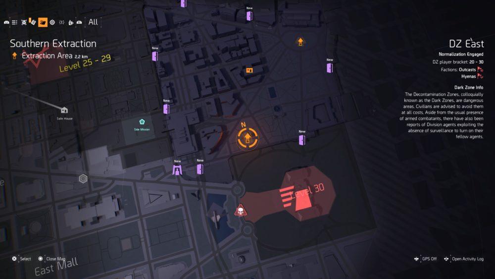division 2, dark zone