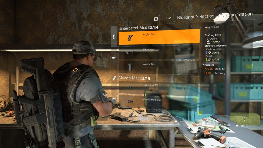 division 2, weapon mods