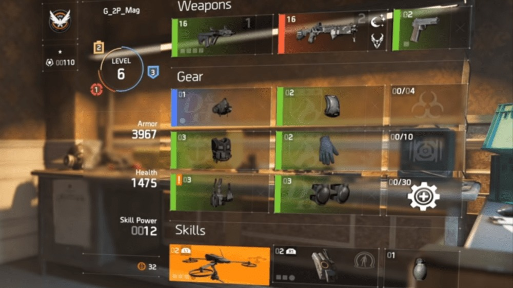 check skill power in The Division 2