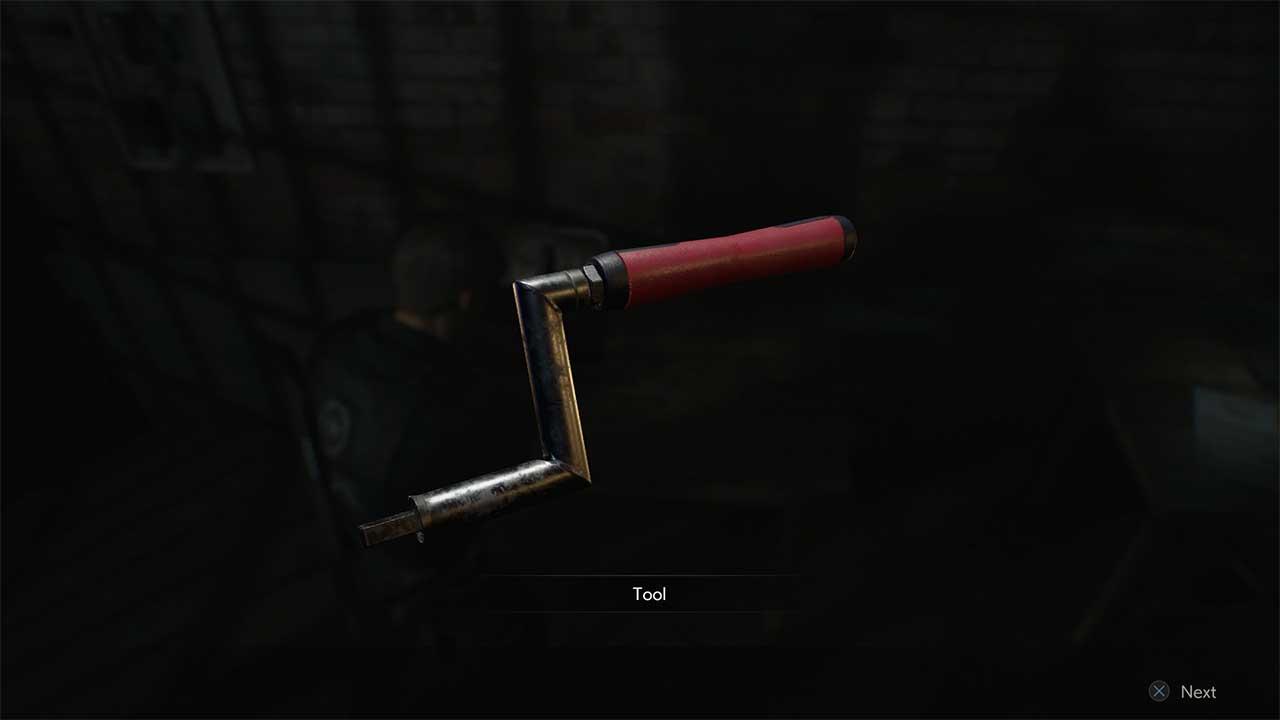 crank handle, resident evil 2