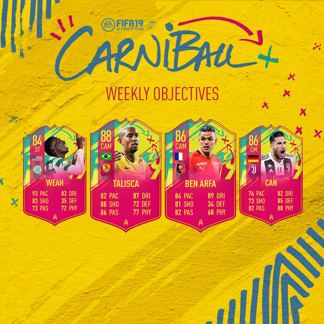 faifa 19, carniball, weekly objectives