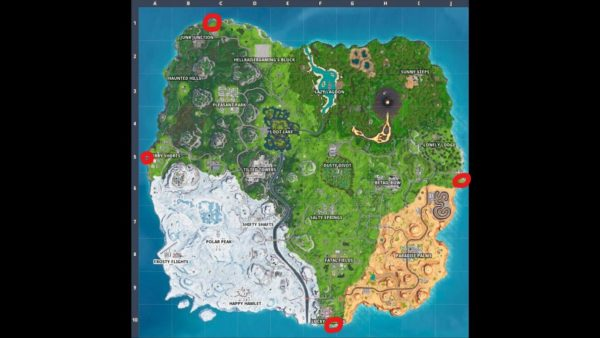 fortnite furthest points map